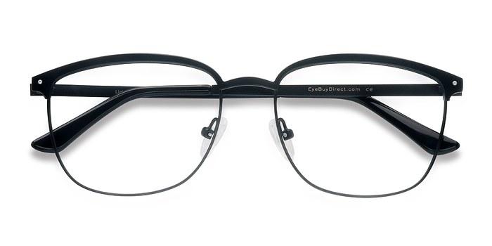 Black Lightbeam -  Metal Eyeglasses
