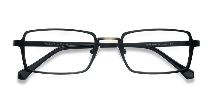 Black Venturi -  Metal Eyeglasses