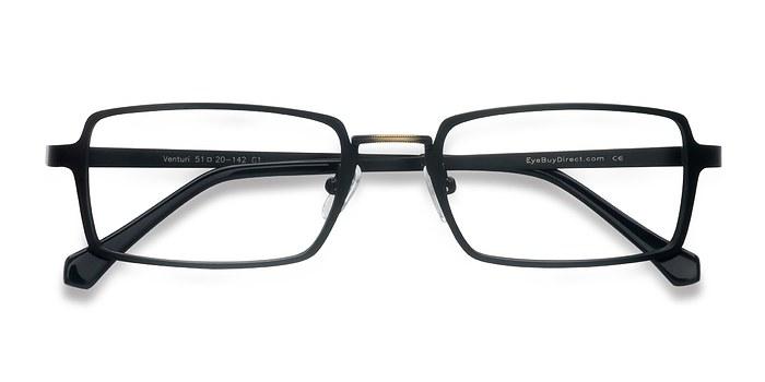 Black Venturi -  Vintage Metal Eyeglasses