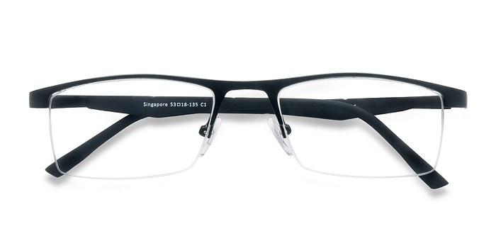 Black Singapore -  Metal Eyeglasses