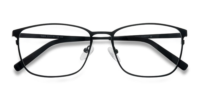 Black Calm -  Classic Metal Eyeglasses