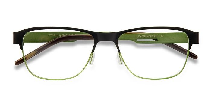 Black Python -  Classic Metal Eyeglasses