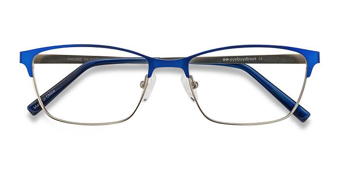 Cascade Blue Metal Eyeglasses EyeBuyDirect