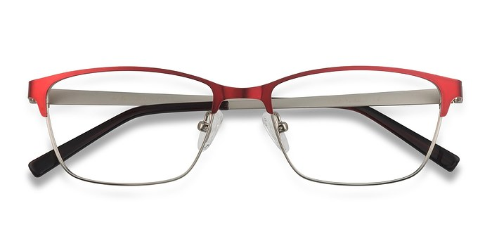 Red Cascade -  Colorful Metal Eyeglasses