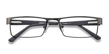 Gunmetal Bennett -  Classic Metal Eyeglasses