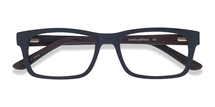 Black Emory -  Classic Wood Texture Eyeglasses