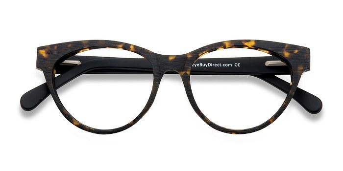 Brown/Tortoise Jane Birkin -  Fashion Wood Texture Eyeglasses