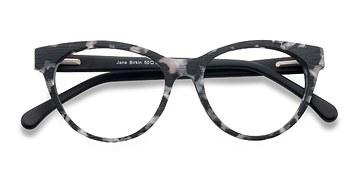 Gray Jane Birkin -  Fashion Wood Texture Eyeglasses