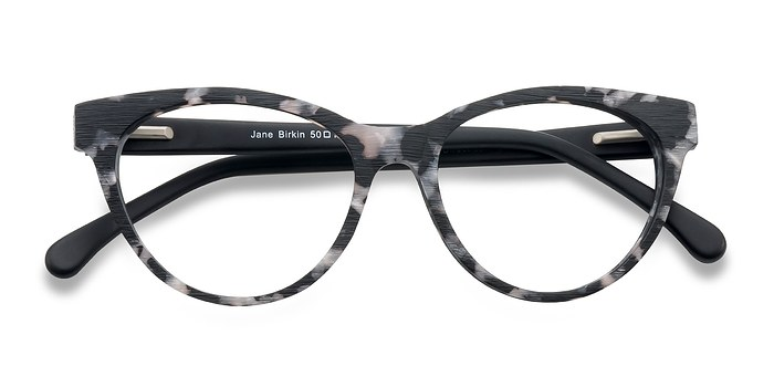 Gray Jane Birkin -  Fashion Wood Texture Eyeglasses