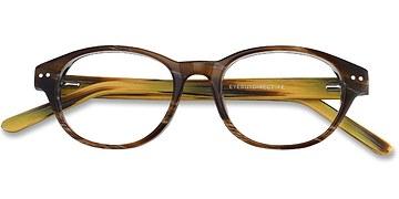 Brown Cape Cod -  Fashion Wood Texture Eyeglasses