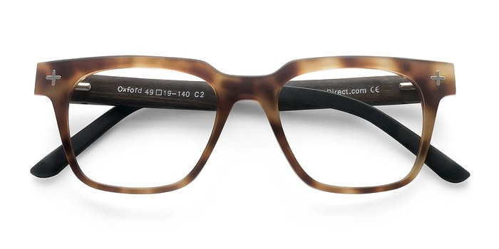 Brown/Tortoise Oxford -  Fashion Wood Texture Eyeglasses