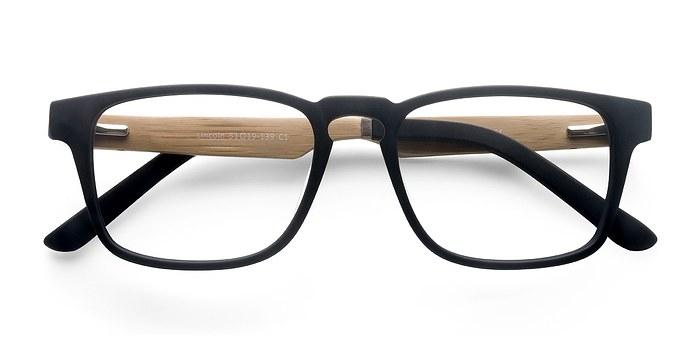 Black Lincoln -  Designer Wood Texture Eyeglasses