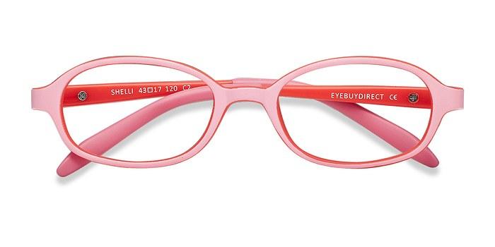 Pink/Red Shelli -  Lightweight Plastic Eyeglasses