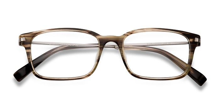 Brown/Striped Dreamer -  Designer Acetate Eyeglasses