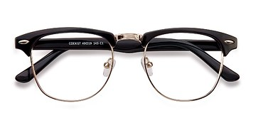 Black/Silver Coexist -  Geek Metal Eyeglasses