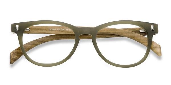 Sahara Matte Green Women Plastic Eyeglasses Eyebuydirect