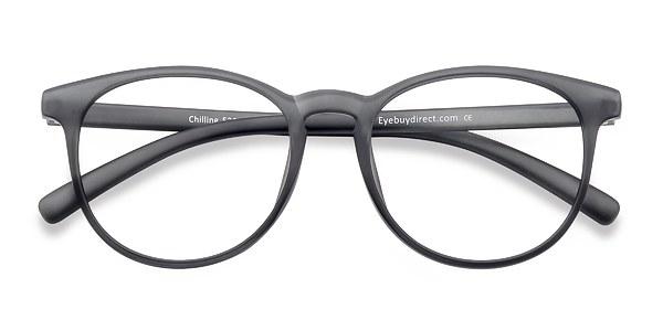 Chilling prescription eyeglasses (Matte Gray)
