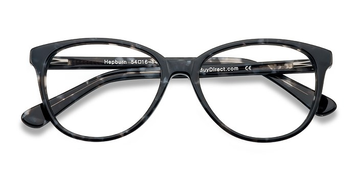 Gray/Floral Hepburn -  Colorful Acetate Eyeglasses