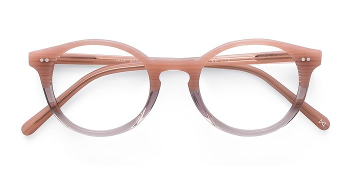 Frosted Rose Fade -  Colorful Acetate Eyeglasses