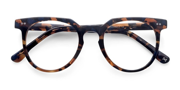 Cognac & Navy Atmosphere -  Geek Acetate Eyeglasses