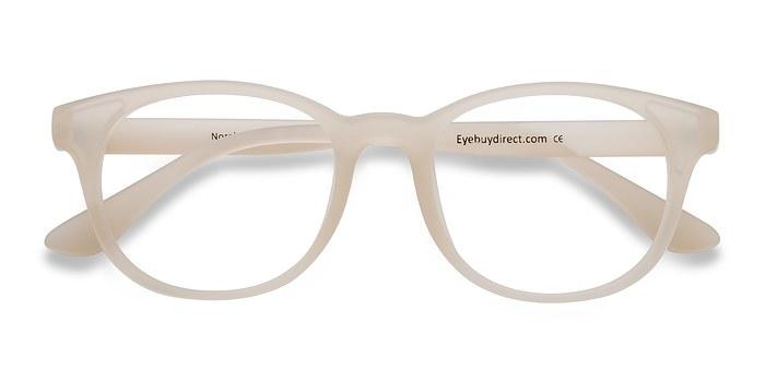 Matte White  Norah -  Classique Plastique Lunettes de Vue