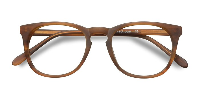 Brown Striped Providence -  Fashion Acetate Eyeglasses