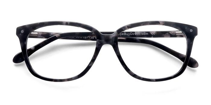 Gray Floral Escapee -  Colorful Acetate Eyeglasses