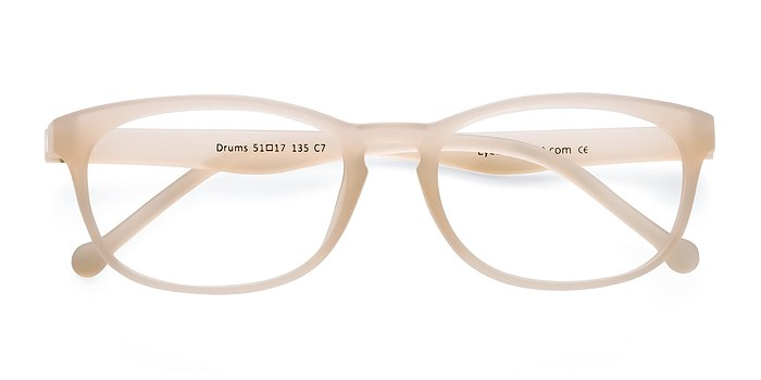 Frosted White Drums -  Classic Plastic Eyeglasses