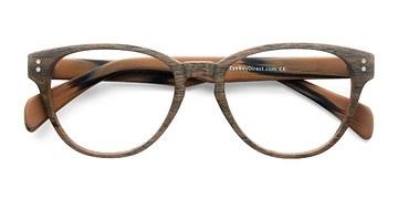 Brown Light Year -  Fashion Wood Texture Eyeglasses