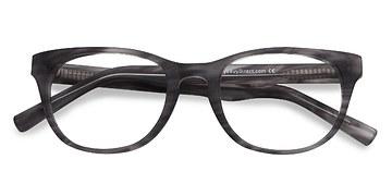 Gray Striped Confidence -  Fashion Acetate Eyeglasses