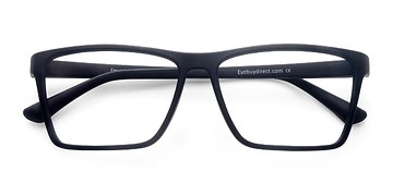 Matte Black Equation -  Fashion Plastic Eyeglasses