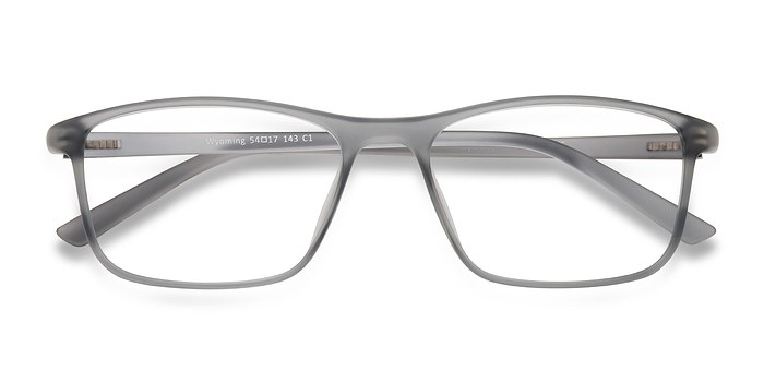 Matte Gray Wyoming -  Plastic Eyeglasses