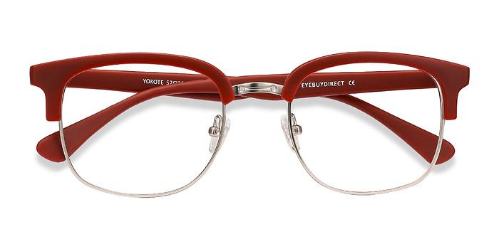 Matte Burgundy Yokote -  Metal Eyeglasses