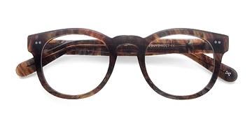 Marbled Hazel Eloquence -  Geek Acetate Eyeglasses