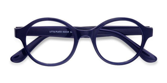 Navy Little Plato -  Colorful Plastic Eyeglasses