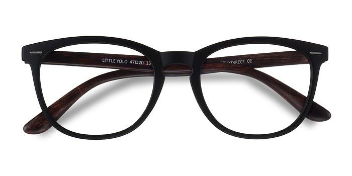 Black Brown Little Yolo -  Geek Plastic Eyeglasses