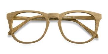 Yellow Providence -  Wood Texture Eyeglasses