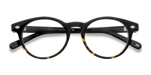 Concept prescription eyeglasses (Jet Amber)
