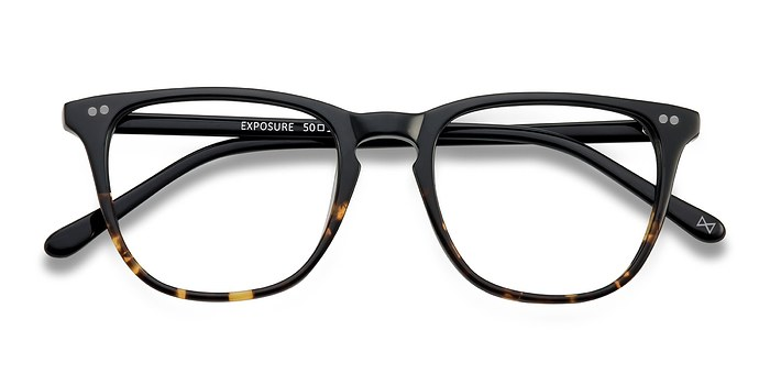 Jet Amber Exposure -  Acetate Eyeglasses