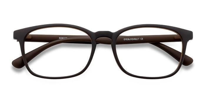 Matte Brown Forest -  Plastic Eyeglasses