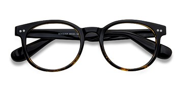 Brown Floral Achiever -  Colorful Plastic Eyeglasses