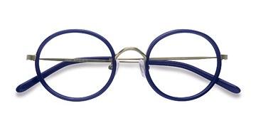 Navy Gemini -  Colorful Acetate Eyeglasses