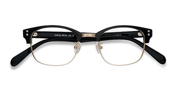 Black Look Up -  Vintage Acetate Eyeglasses