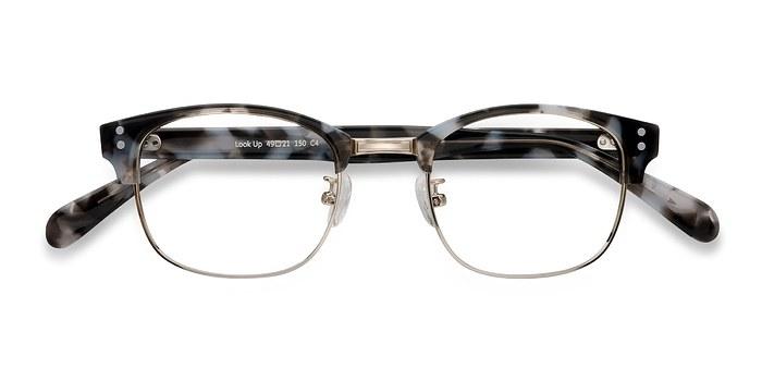 Gray Look Up -  Designer Acetate Eyeglasses