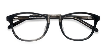 Gray Striped Tomorrow -  Acetate Eyeglasses