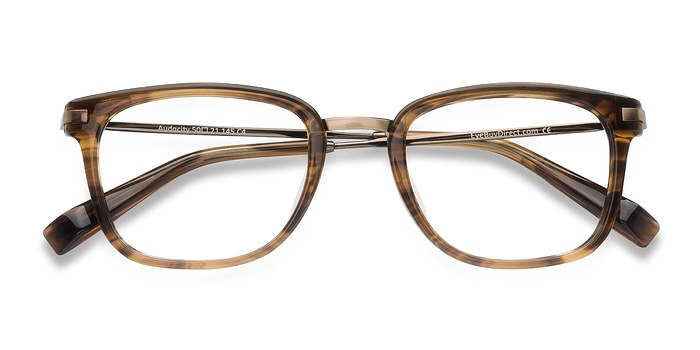 Brown Striped Audacity -  Designer Acetate Eyeglasses