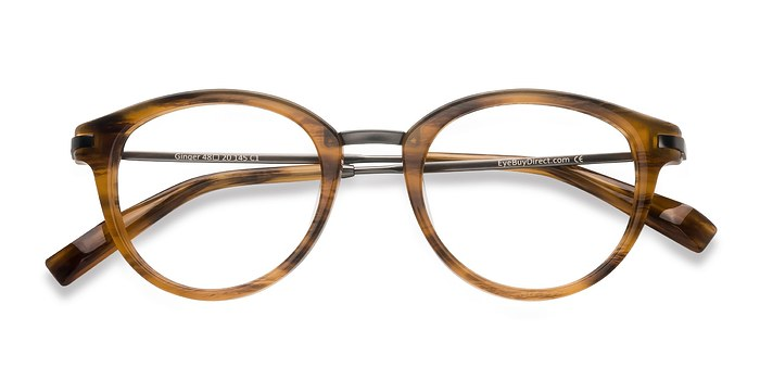 Brown Striped Ginger -  Designer Acetate Eyeglasses