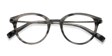 Gray Striped Ginger -  Designer Acetate Eyeglasses