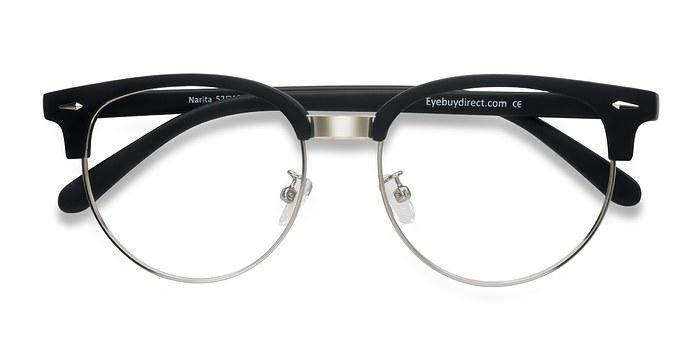 Matte Black Narita -  Metal Eyeglasses