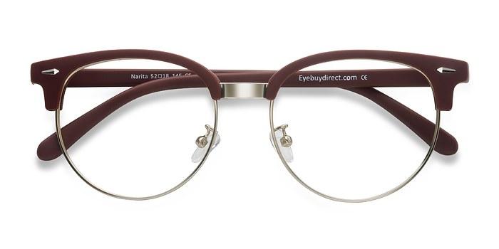 Matte Burgundy Narita -  Metal Eyeglasses